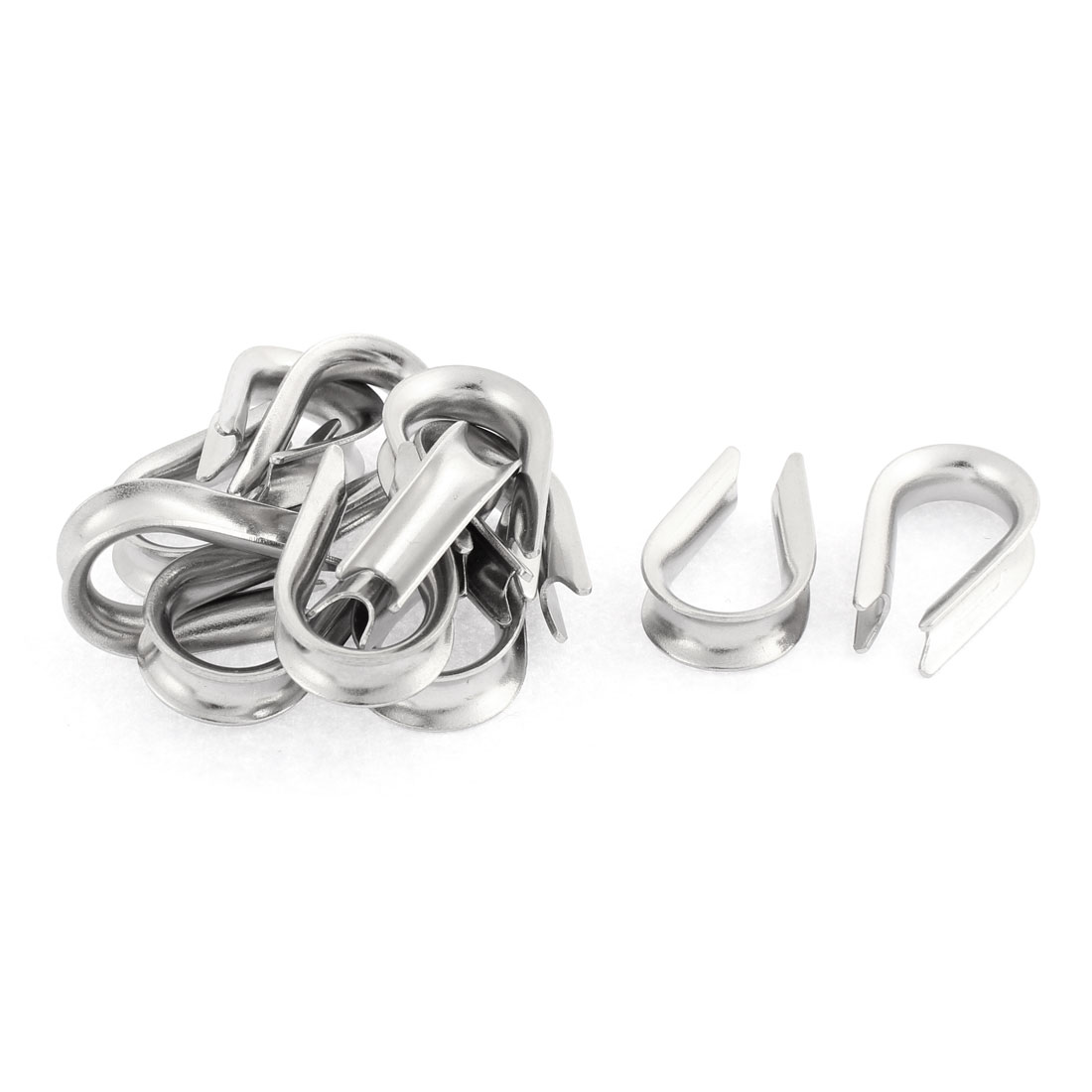Stainless Steel 5mm Standard Wire Rope Cable Thimbles Rigging Lifting Gear 12pcs