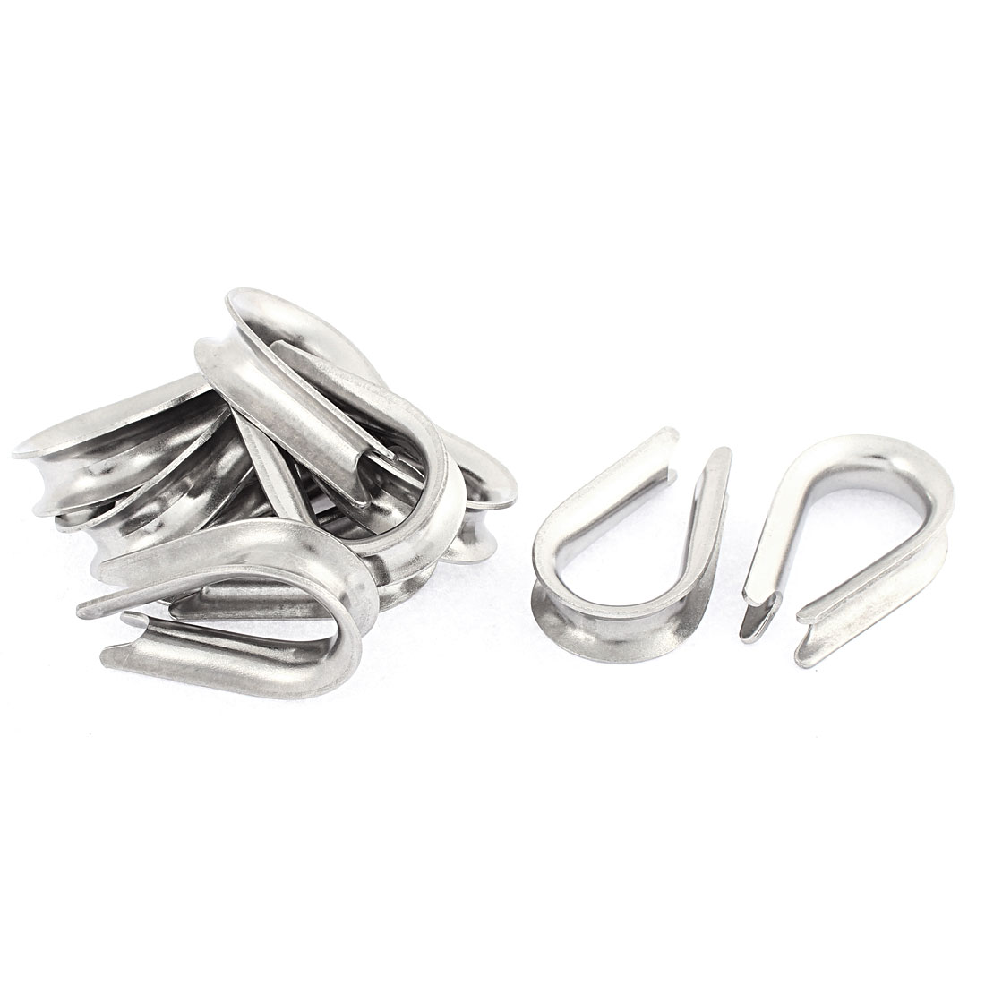 Stainless Steel 8mm Standard Wire Rope Cable Thimbles Rigging 10pcs