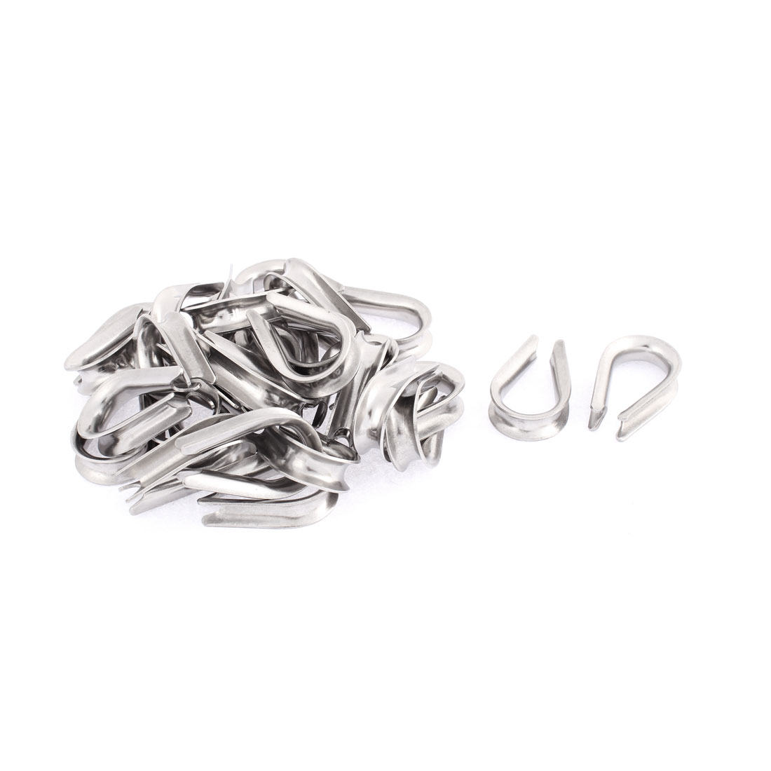 Stainless Steel 8mm Standard Wire Rope Cable Thimbles Rigging 30pcs