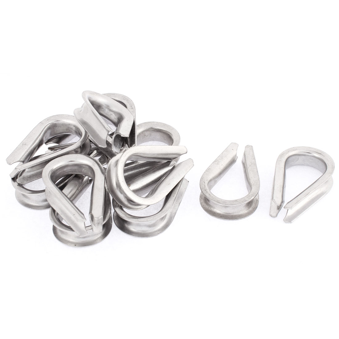 12mm Standard Wire Rope Cable Thimbles Rigging Lifting Gear 12pcs