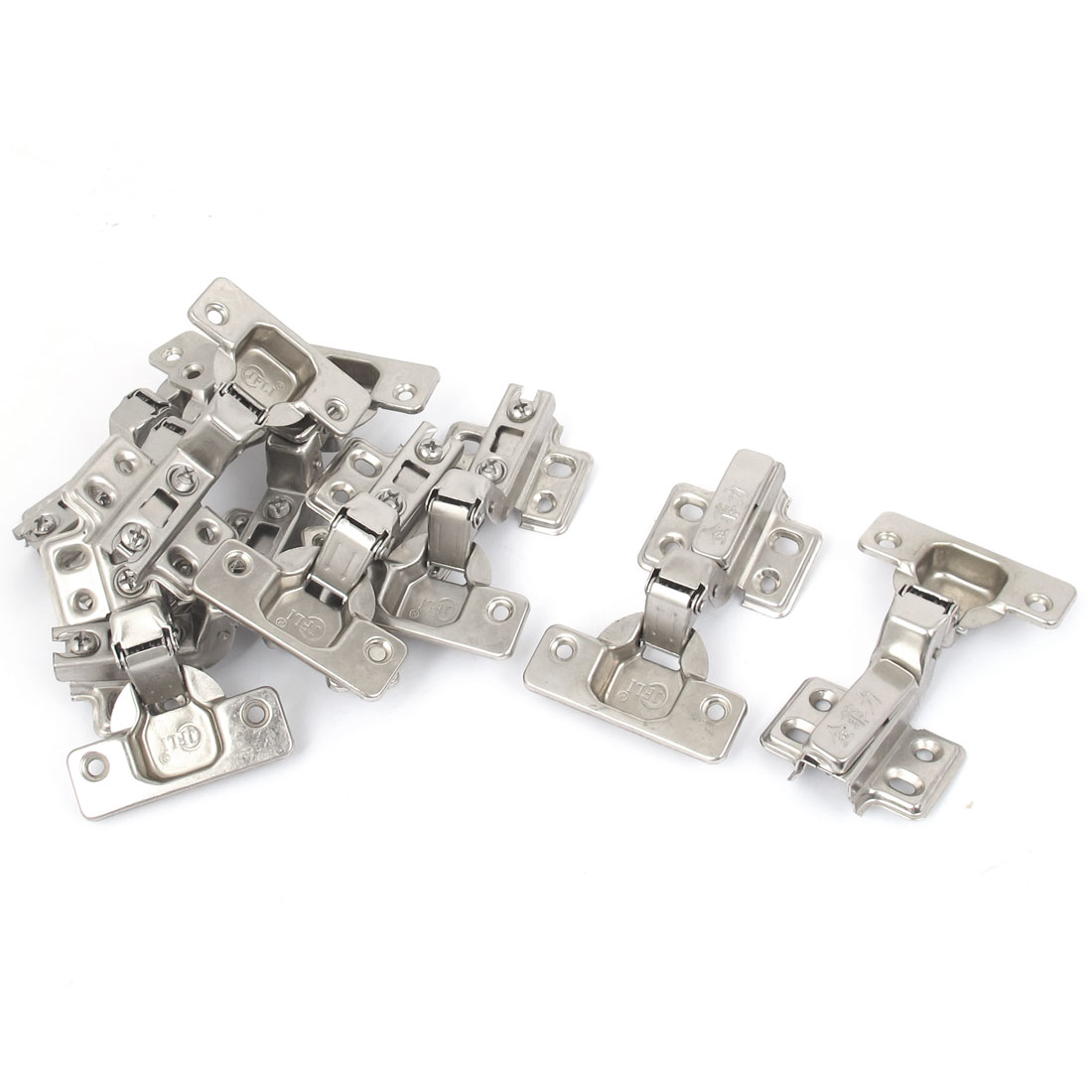 Face Frame Concealed Self Closing Metal Cabinet Hinges Silver Tone 20pcs
