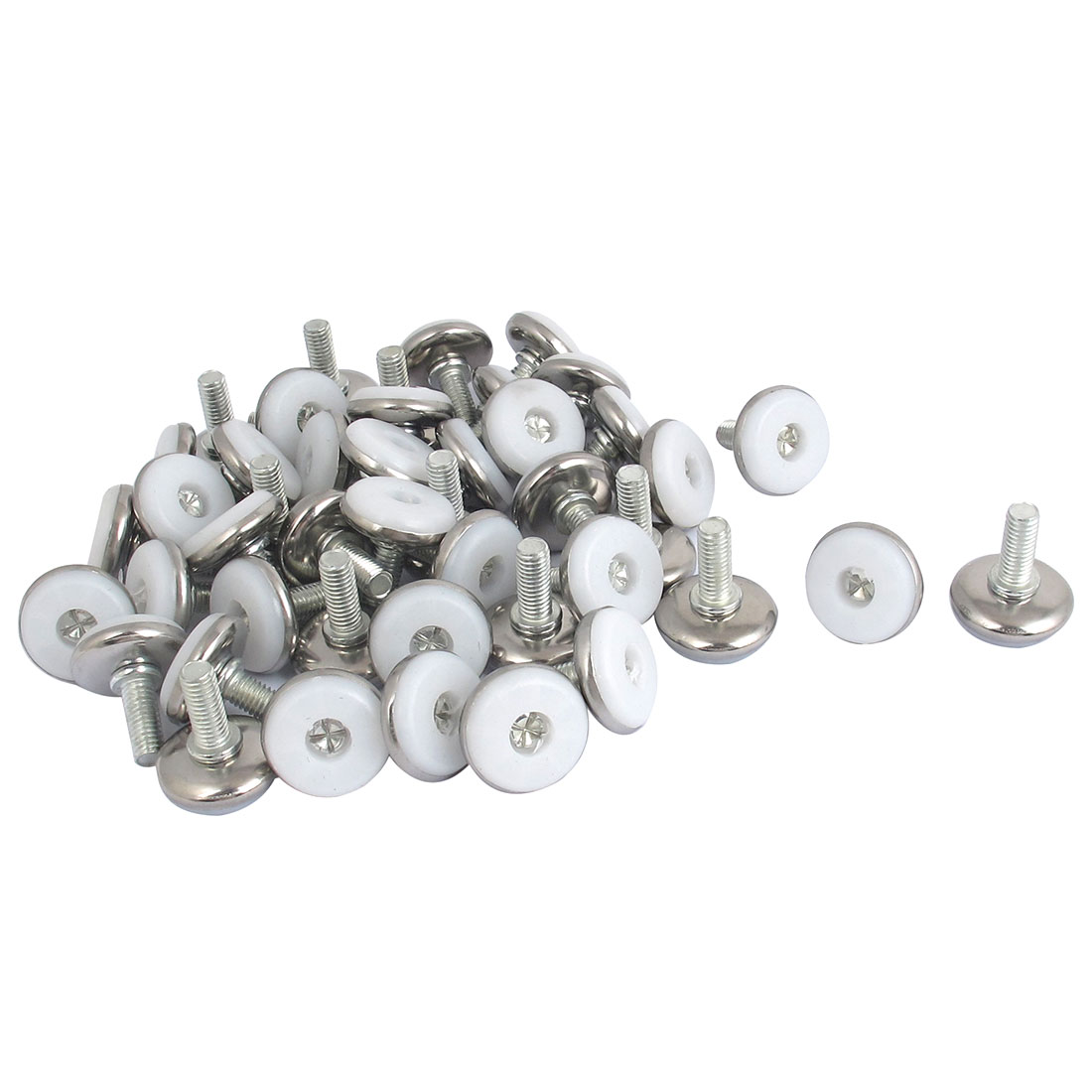 M8x20mm Adjustable Table Desk Cabinet Thread Leveling Feet 50pcs
