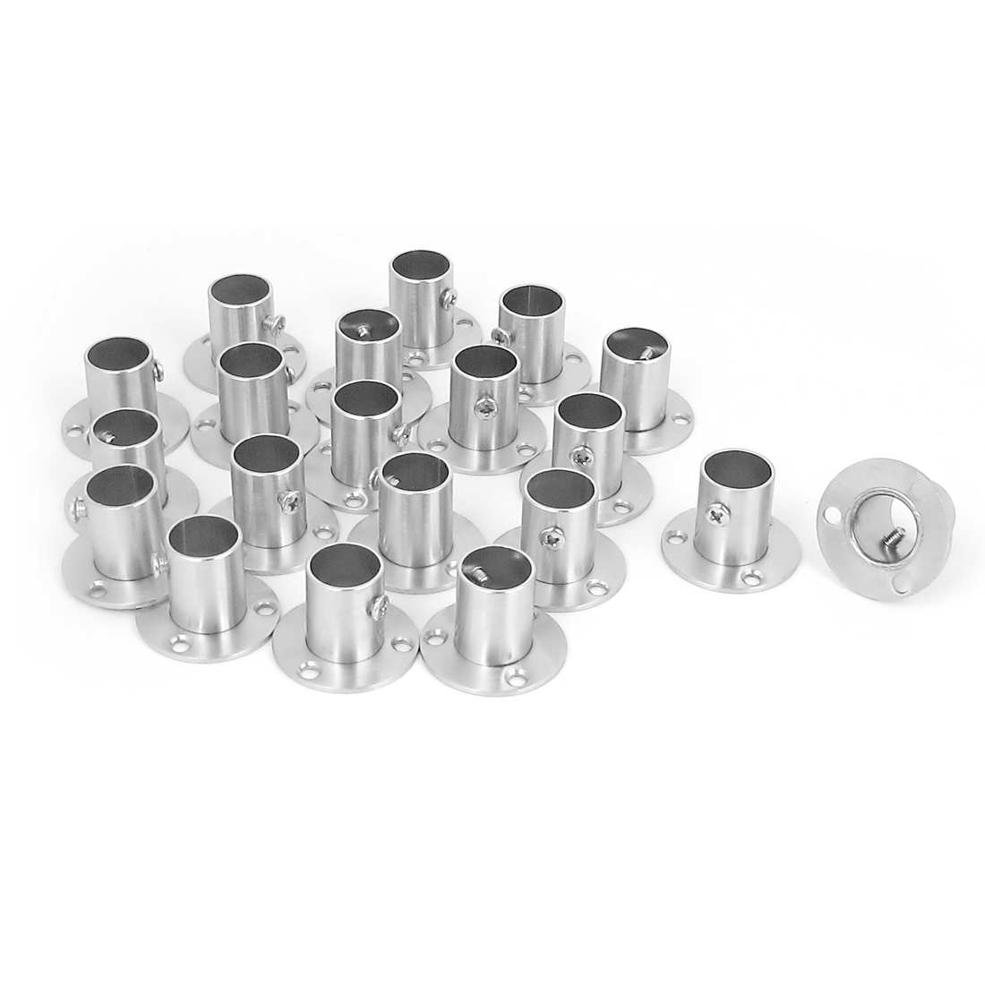 Closet Wardrobe Rail Rod End Support Bracket Socket 19mm Tube 20Pcs