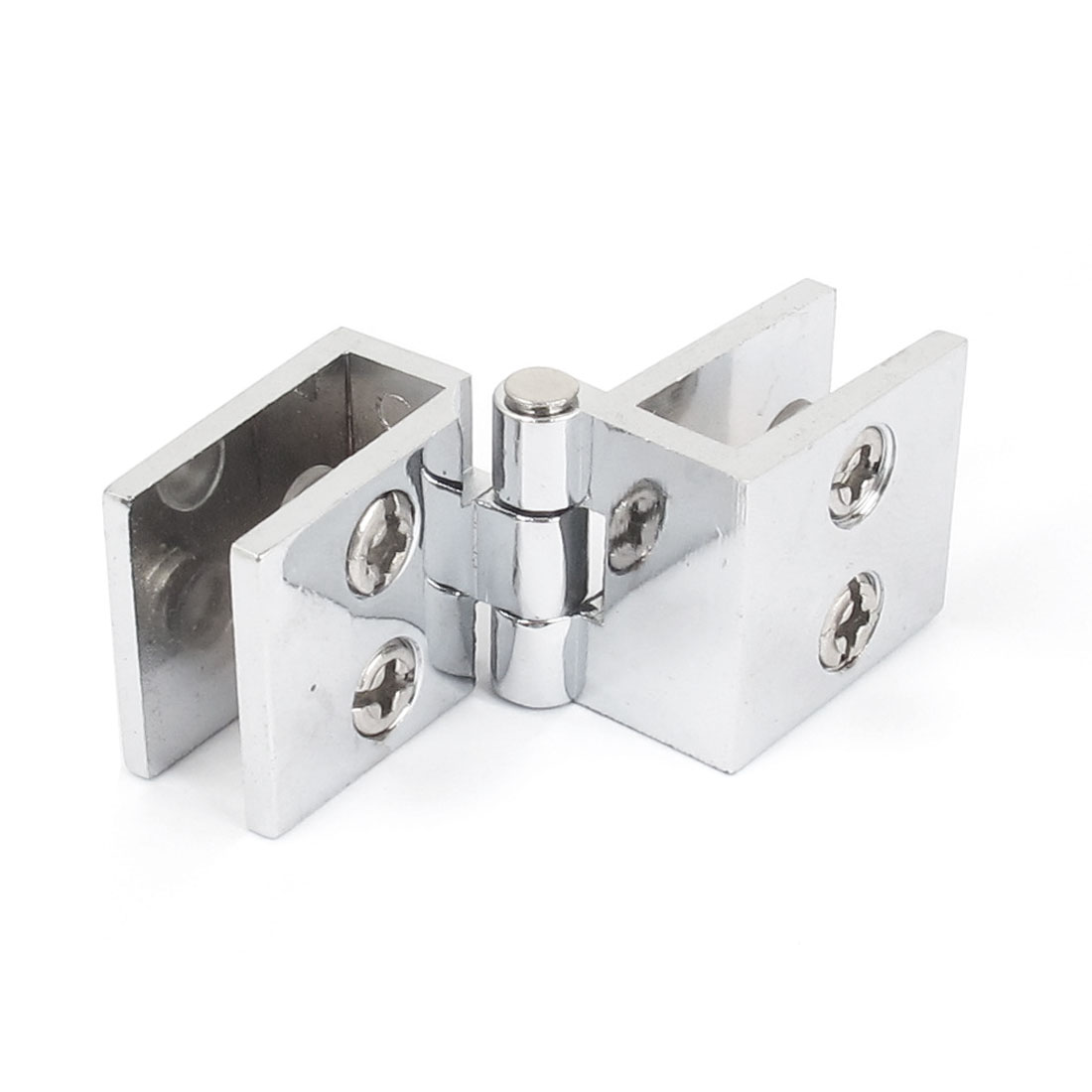 5mm-8mm Adjustable Collapsible Rectangle Clamp Clip Door Hinge for Bathroom Shower