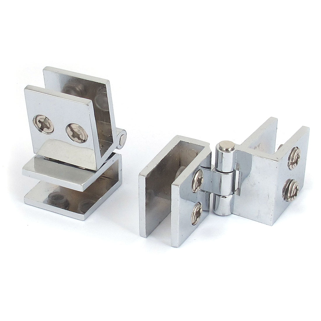 Silver Tone Alloy 8mm Thickness Glass Shelf Clip Clamp Support Bracket Holder