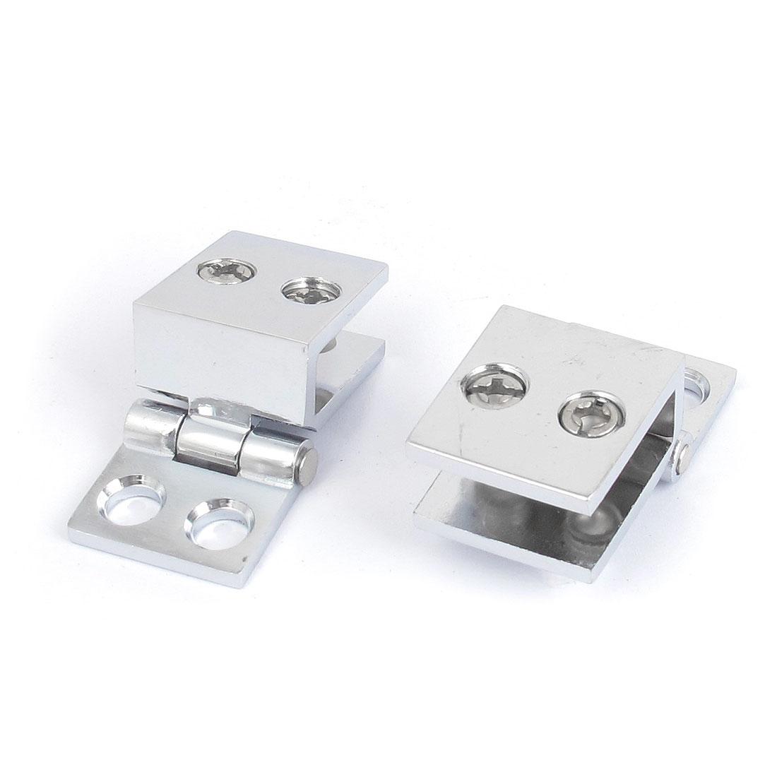 5mm-8mm Adjustable 90 Degree Metal Glass Door Clip Clamp Hinge 2pcs