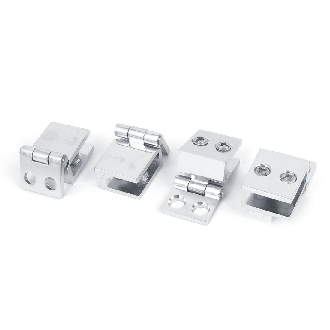 8mm Thick 90 Degree Alloy Bathroom Glass Clip Shelf Clamp Support Bracket 4pcs