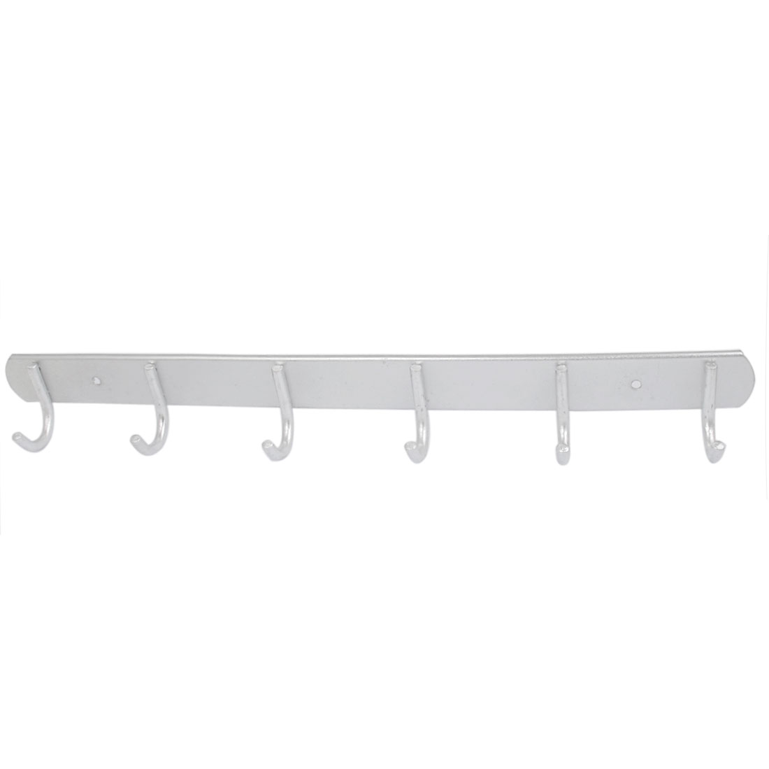 Bedroom Kitchen Aluminum 6 Hooks Wall Mounted Hanger Towel Clothes Hanging Rack