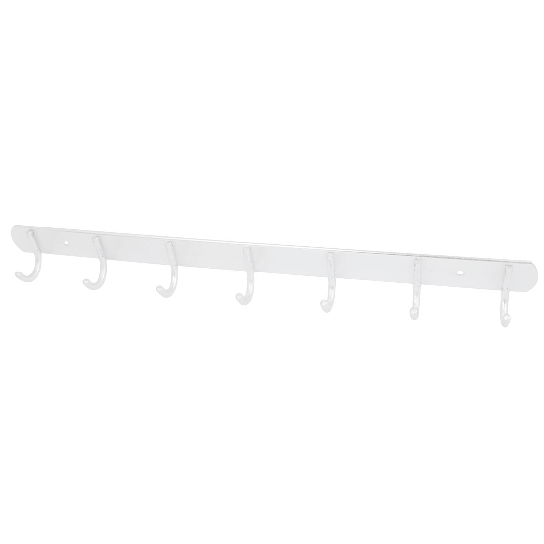 Bedroom Kitchen Aluminum 7 Hooks Wall Mounted Hanger Towel Clothes Hanging Rack