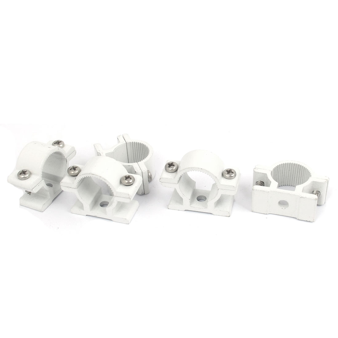 20mm Dia Wall Mounted Aluminium Alloy Pipe Clip Clamp Fastener 5pcs