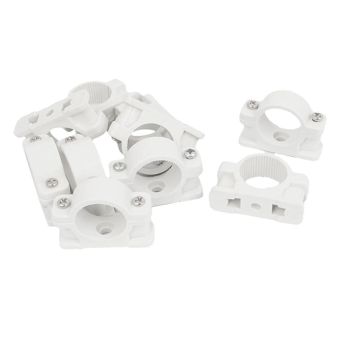 25mm Dia Wall Mounted Plastic Pipe Clip Clamp Fastener 10pcs