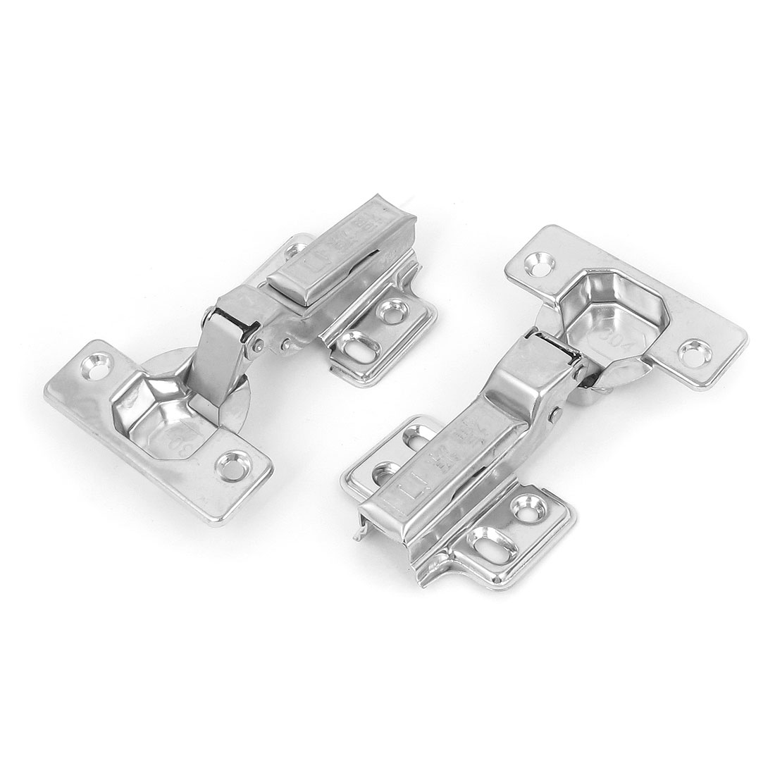Cabinet Cupboard Stainless Steel Face Frame Concealed Self Closing Hinges 10pcs
