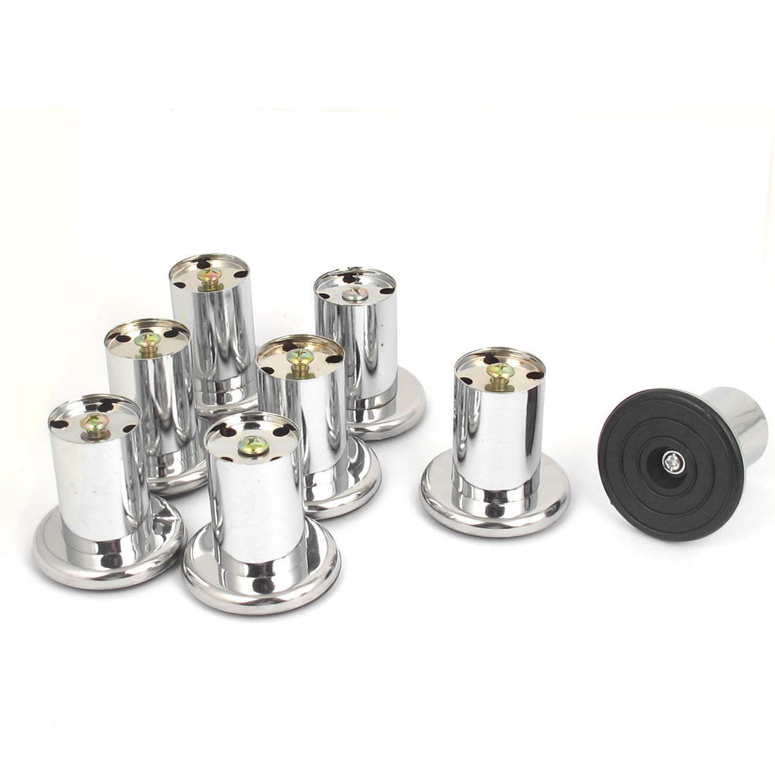 Sofa Chair Cabinet 78mm x 80mm Stainless Steel Round Stand Leg Feet 8pcs