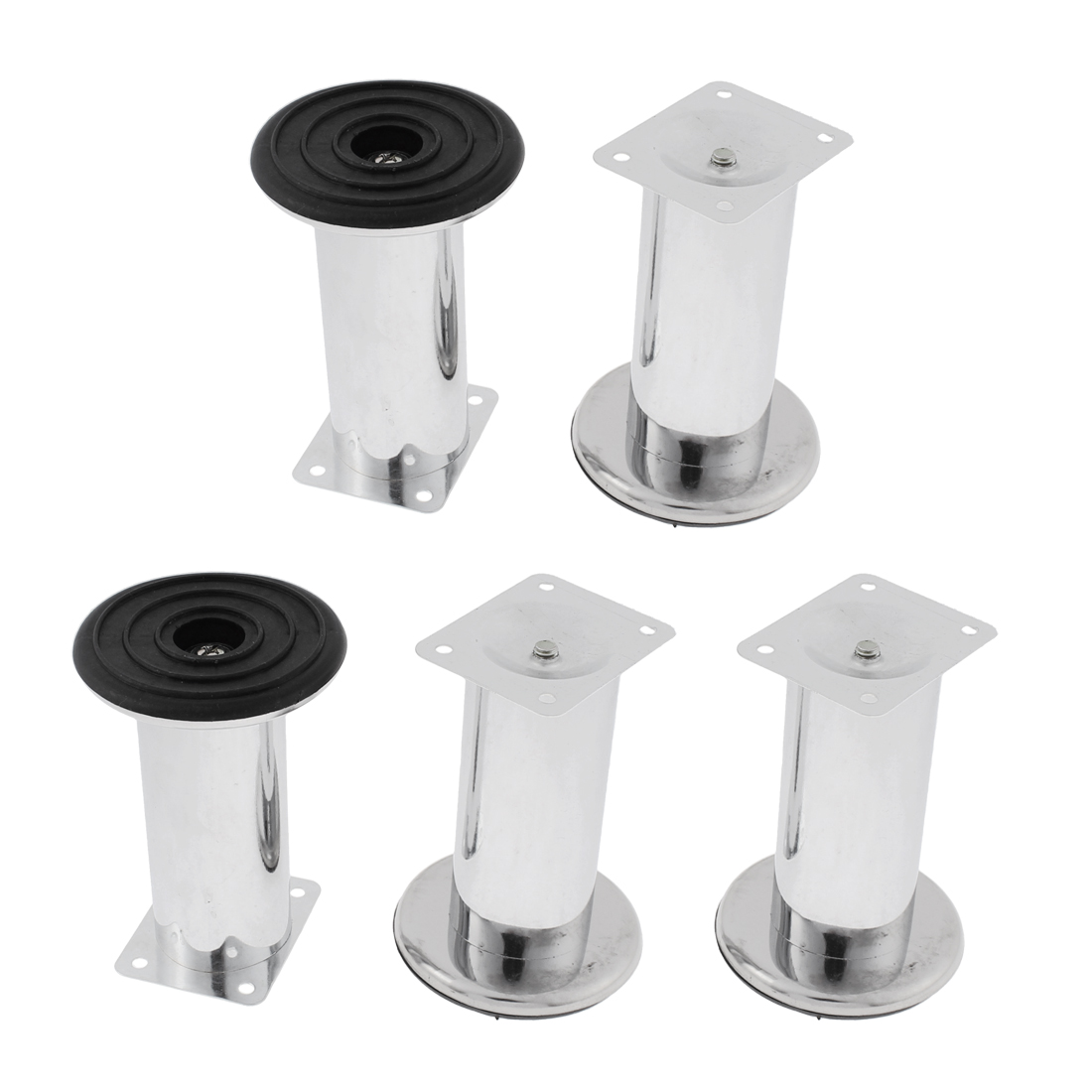 81mm Dia 115mm Height Furniture Sofa Bed Cabinet Leg Support 5pcs