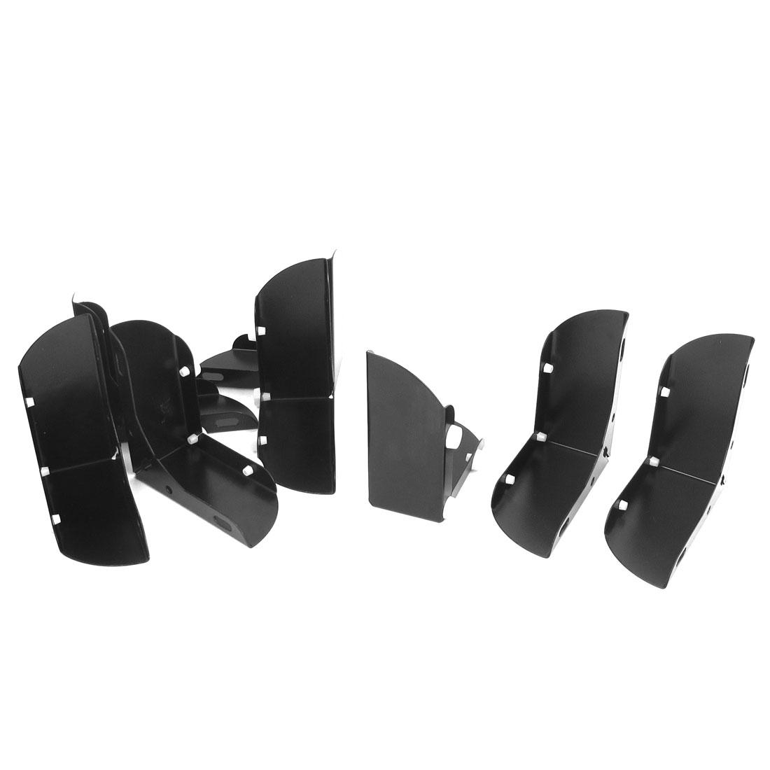 46mm Inner Height Furniture Feet Cabinet Sofa Leg Decor Black 8pcs