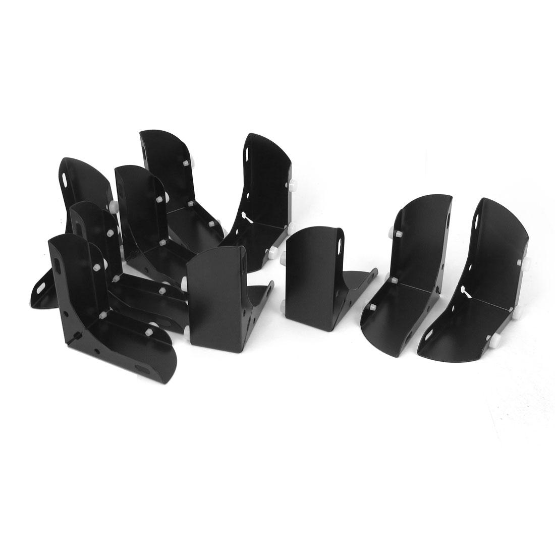 46mm Inner Height Furniture Feet Cabinet Sofa Leg Decor Black 10pcs