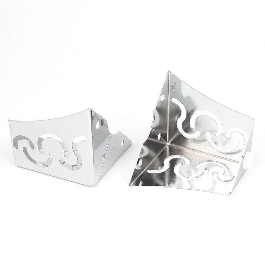 Hollow Out Furniture Feet Cabinet Sofa Leg Decor Silver Tone 2pcs
