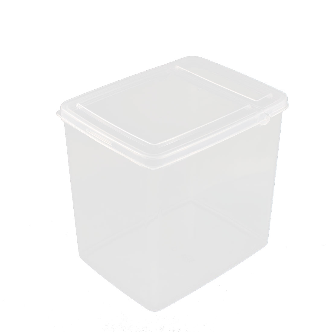 Home Plastic Food Storage Box Container 165mmx125mmx160mm 2.6L Clear