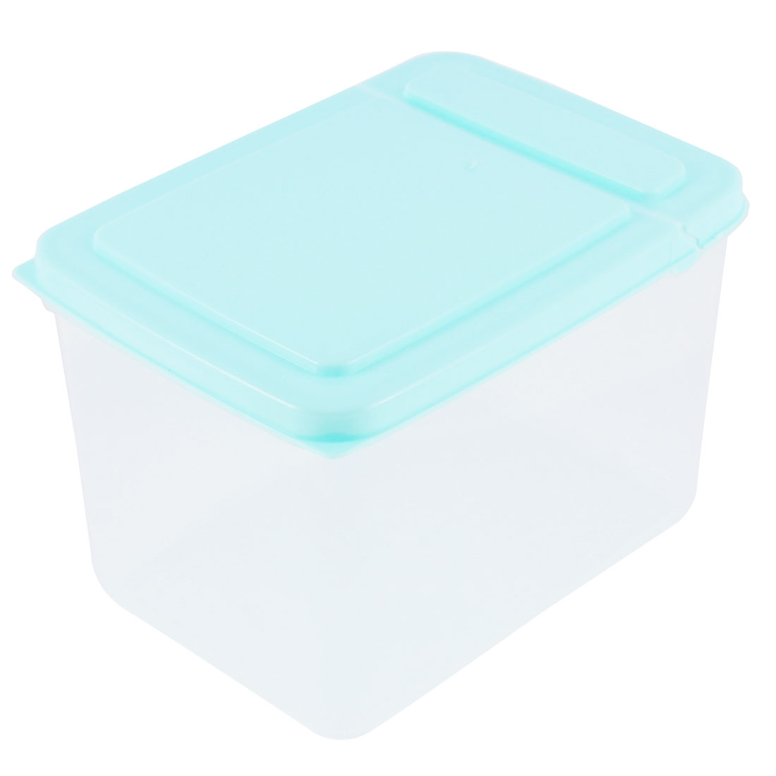 Home Plastic Food Storage Box Container Case 10cm Height 1.3L Blue