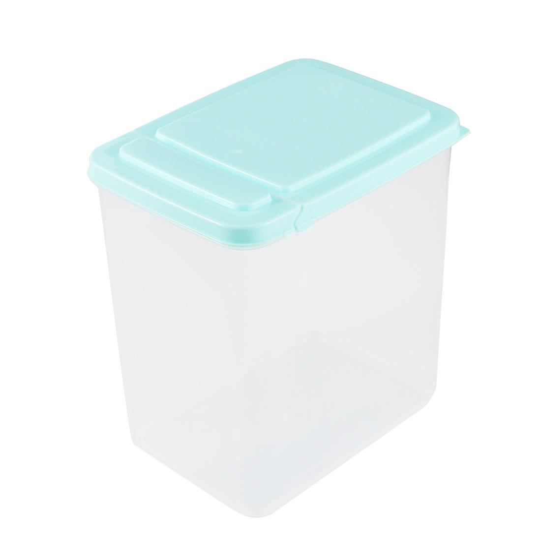 Office Plastic Food Storage Box Container 15cm x 11cm x 16cm 2L Blue