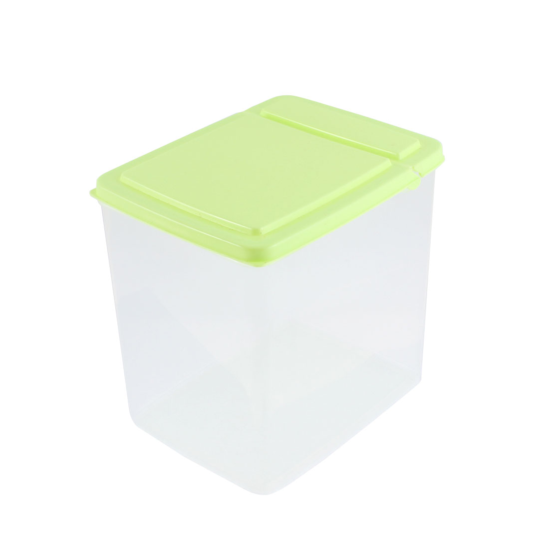 Household Plastic Food Storage Box Container 6.5 Inchx5 Inchx6.3 Inch 2.6L Green