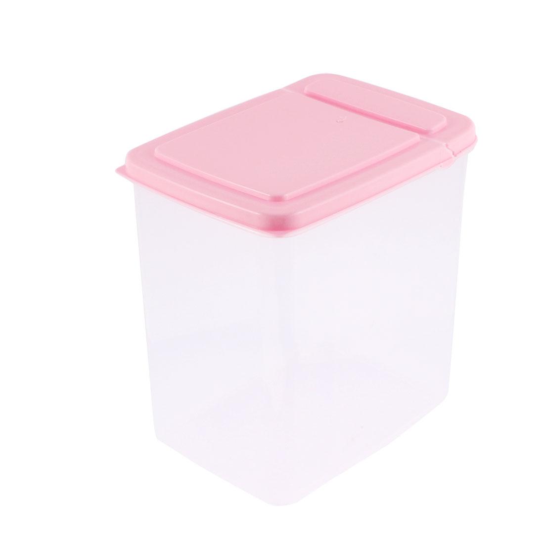 Plastic Food Storage Box Container Case 15cm x 11cm x 16cm 2L Pink