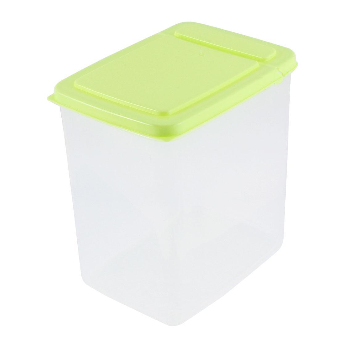 Office Plastic Food Storage Case Container 15cm x 11cm x 16cm 2L Green