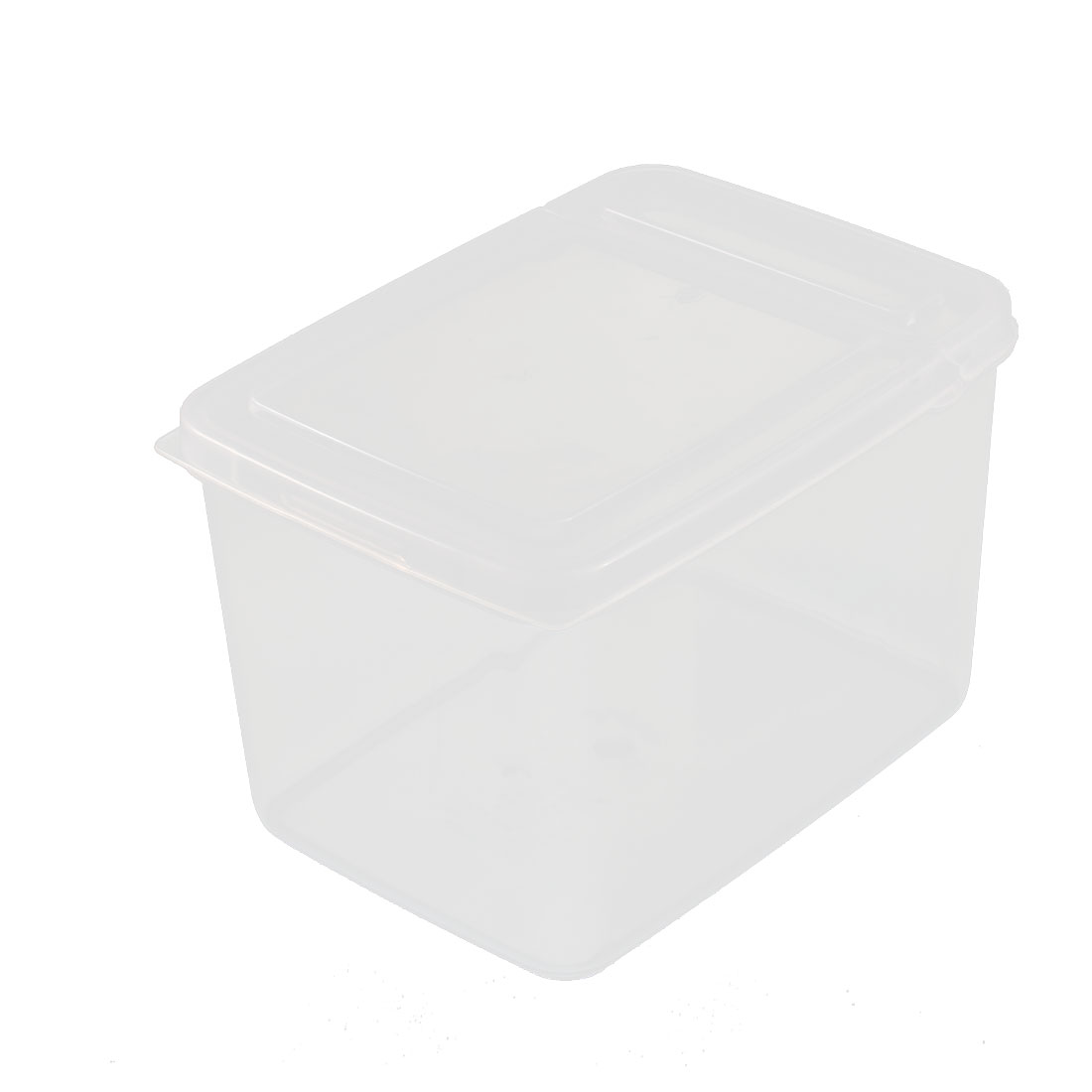 Office Plastic Food Storage Box Container Case 10cm Height 1.3L Clear