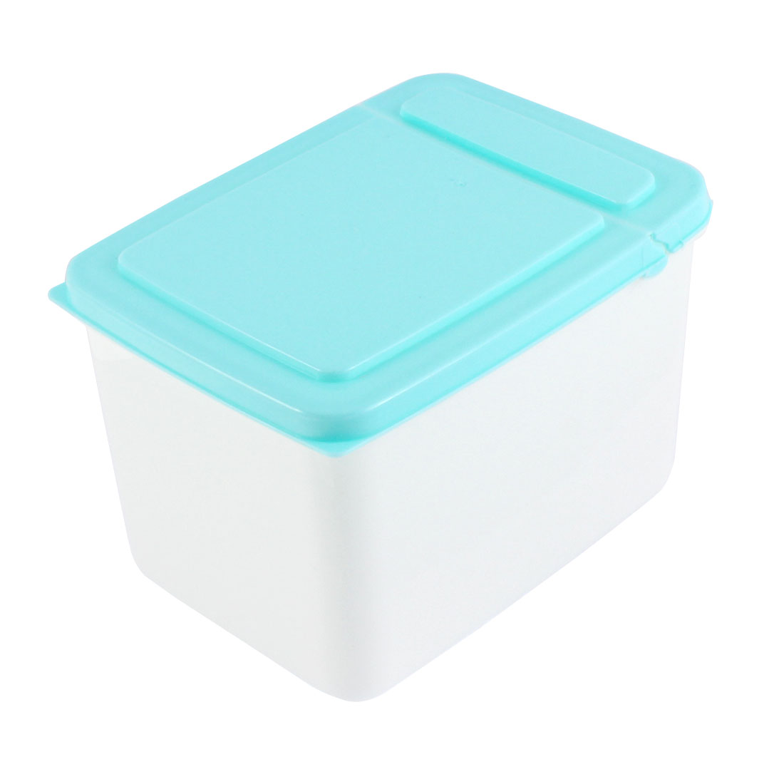 Office Plastic Food Storage Box Container 15cm x 11cm x 10cm 1.3L Blue