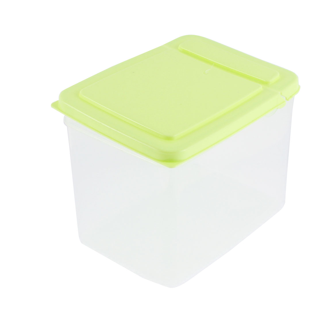 Household Plastic Food Storage Box Container Case 4 Inch Height 1.3L Green