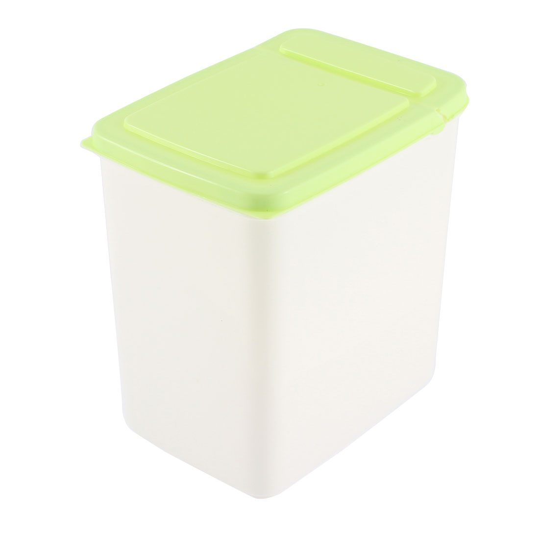 Office Plastic Cuboid Shaped Airtight Food Storage Box Container 2L Green
