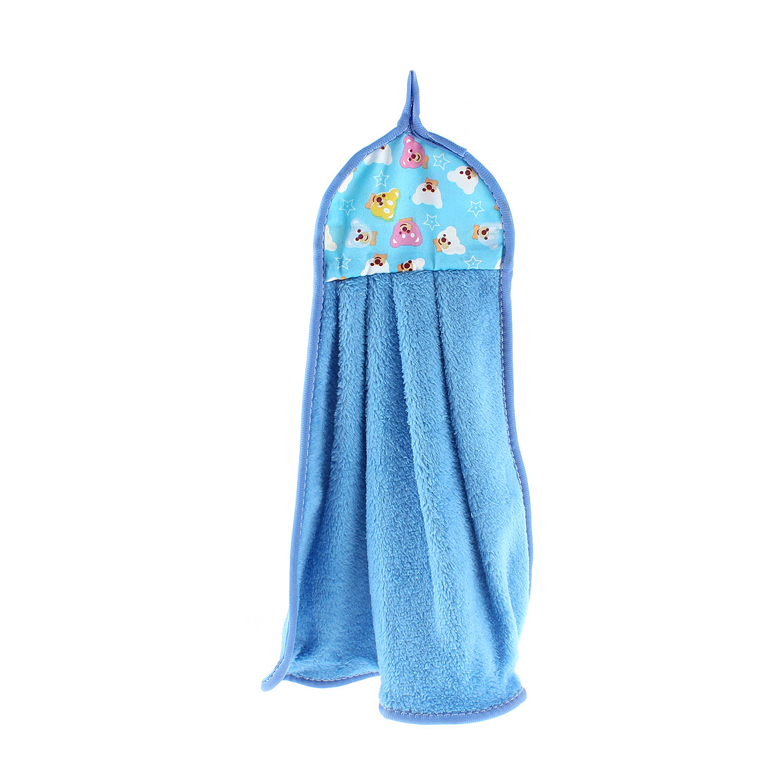 Bathroom Bears Printed Wall Hanging Cleaning Hand Drying Towel Blue