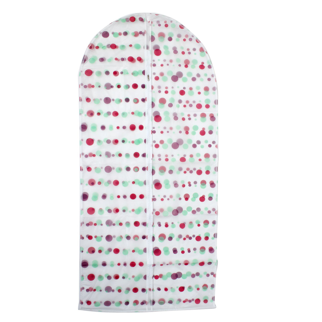 Clothes Suit Garment PEVA Dots Pattern Dustproof Cover Bag 130cm x 60cm