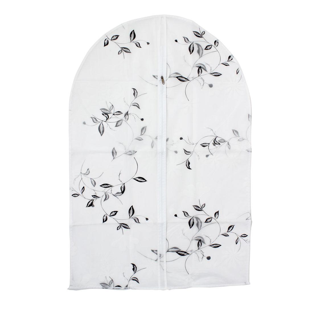 "Clothes Suit Garment PEVA Leaves Printed Dustproof Cover Bag 35"" Length"