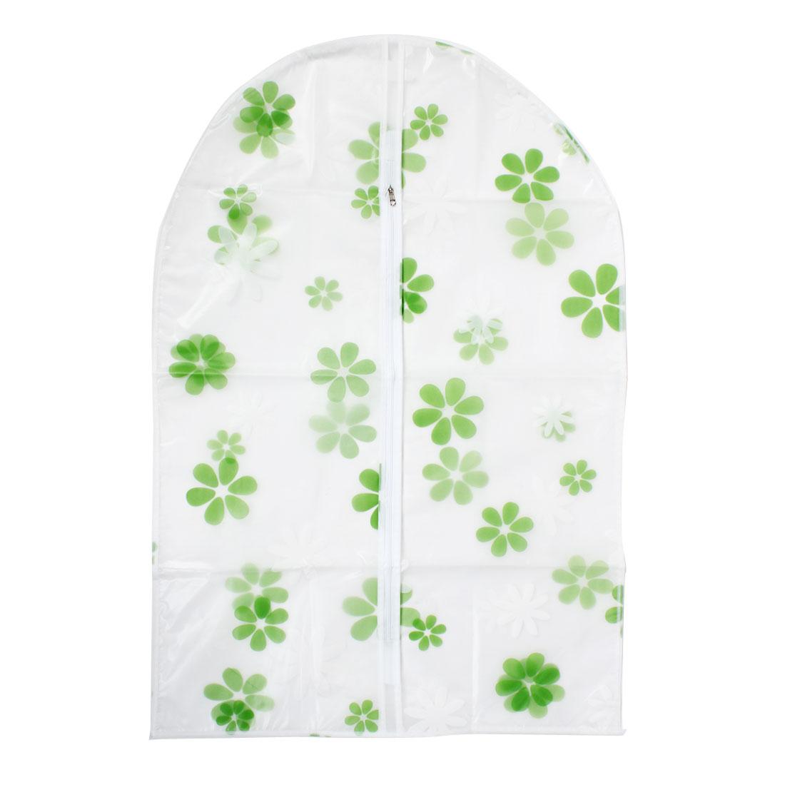 "Clothes Suit Garment PEVA Flower Printed Dustproof Cover Bag 35"" Length"