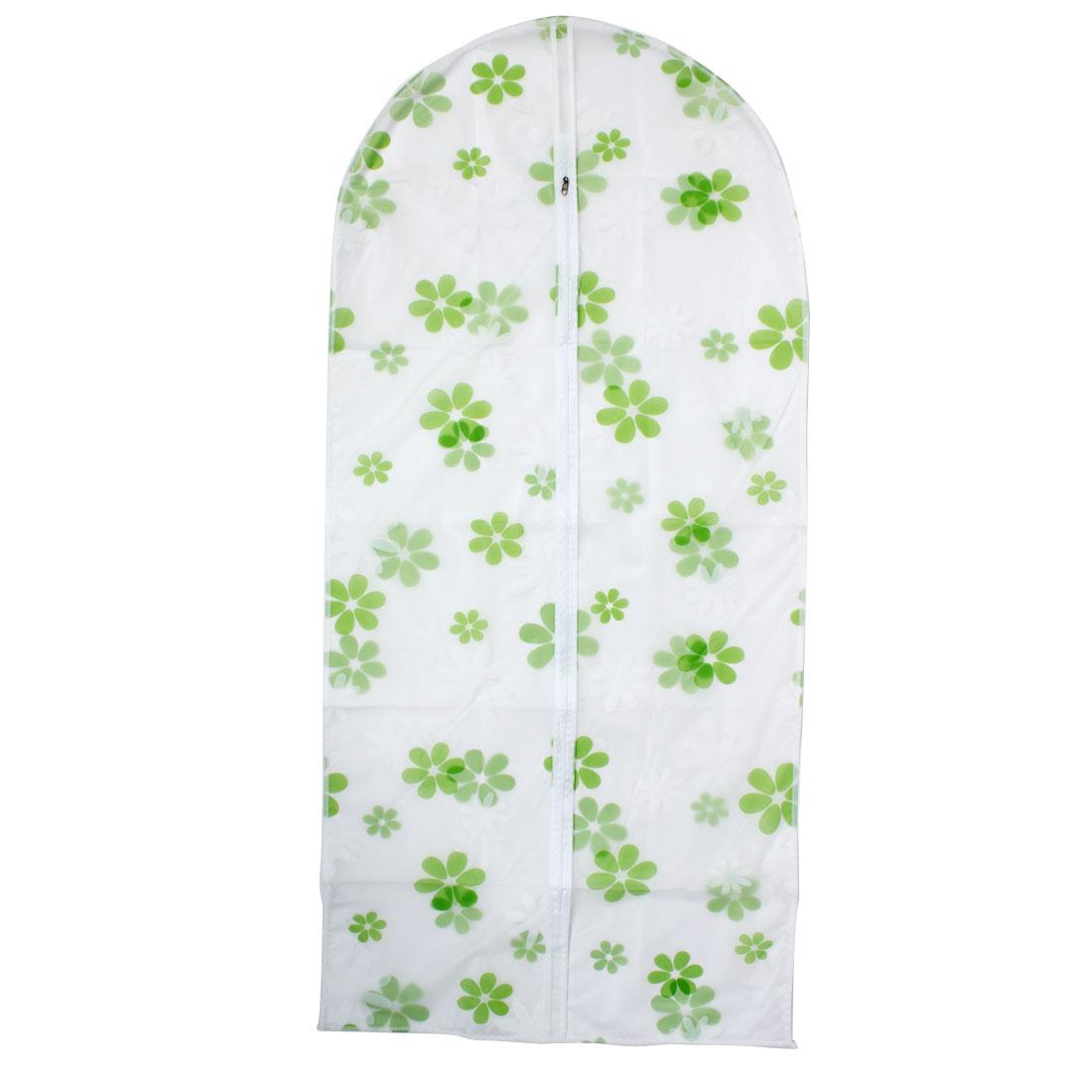 Clothes Suit Garment PEVA Flower Pattern Dustproof Cover Bag 130cm x 60cm