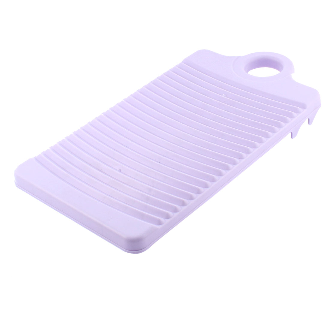 Plastic Rectangle Washboard Clothes Washing Board 12.4 Inch Length Light Purple