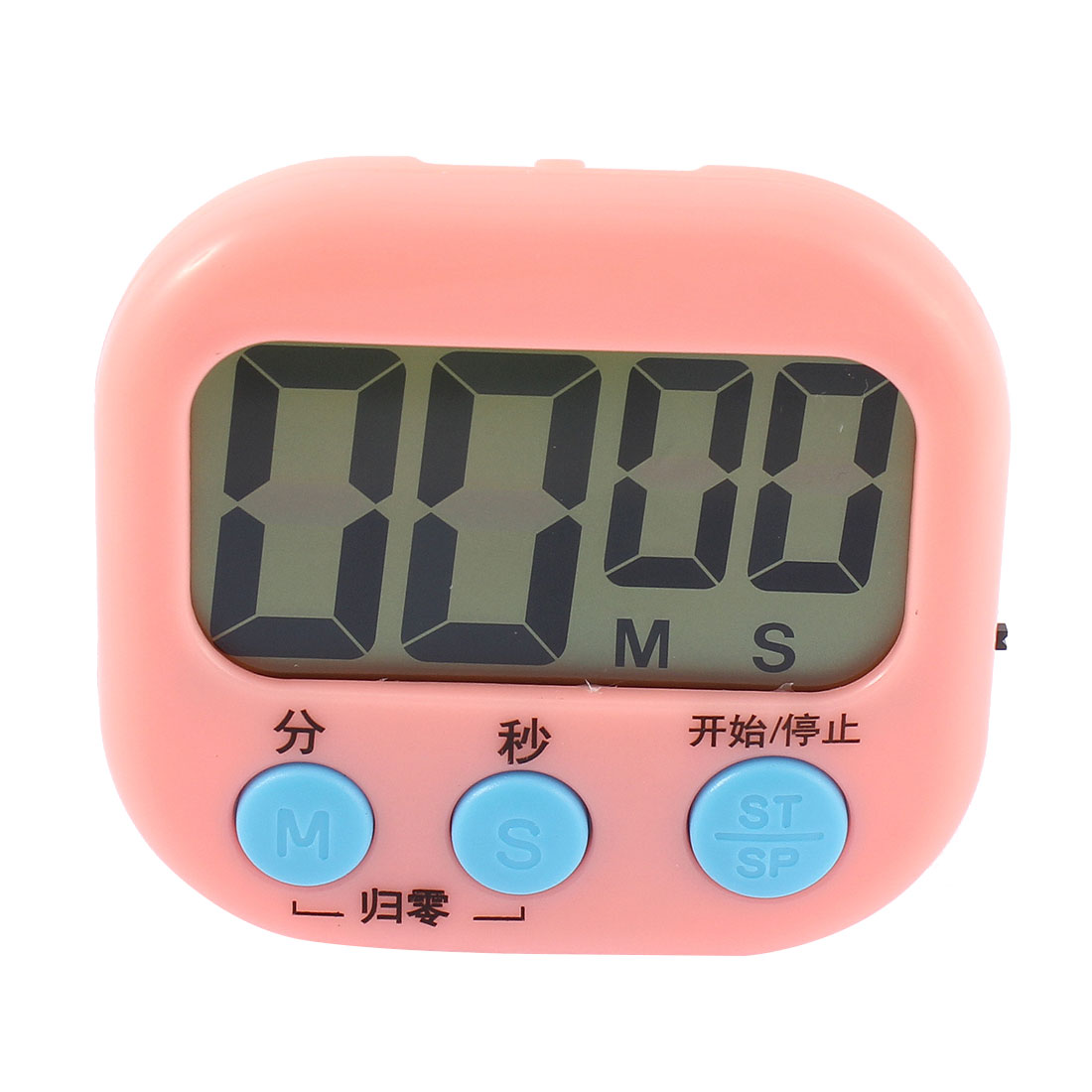 Cooking Rectangle Magnetic LCD Digital Button Count Down Up Timer Pink