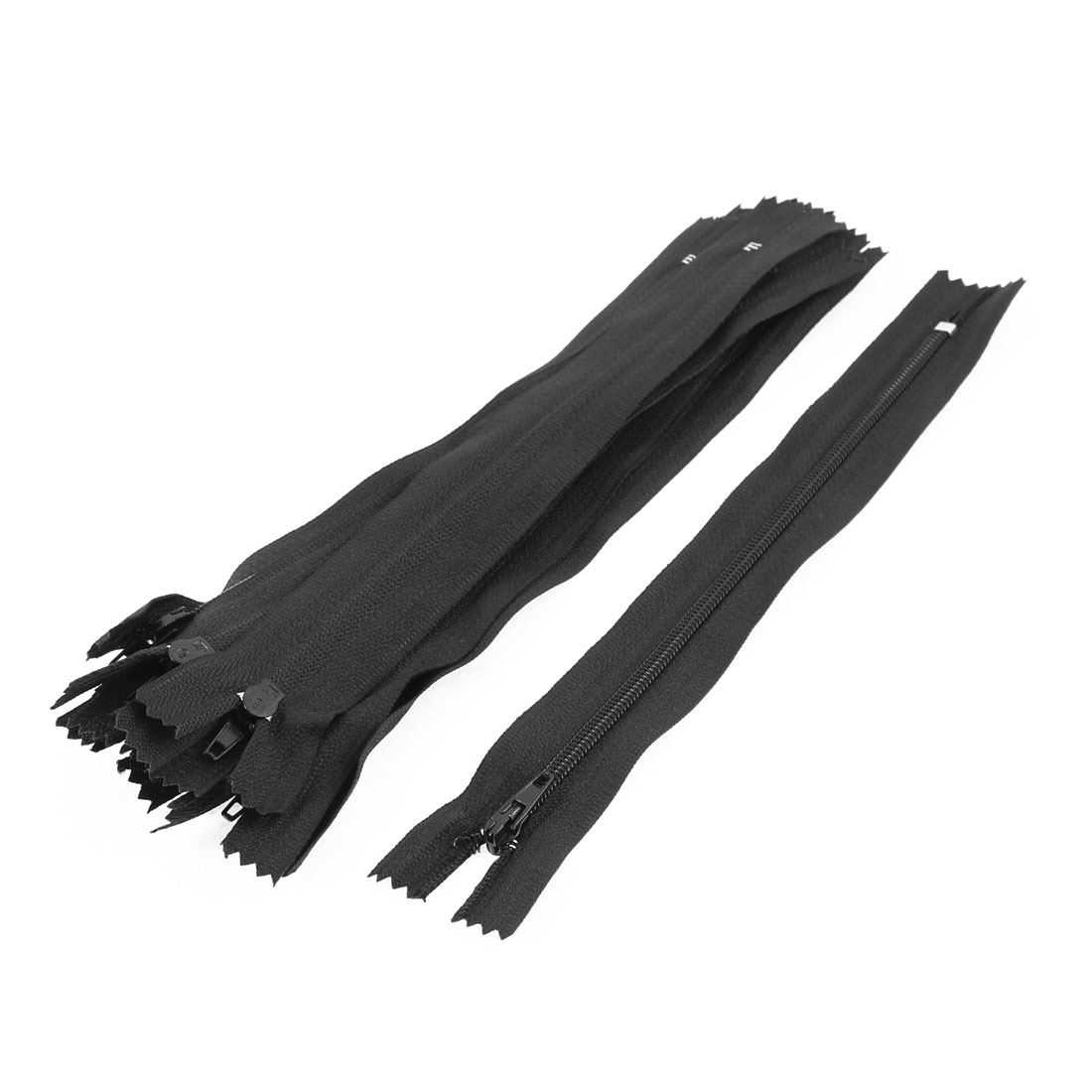 Dress Pants Closed End Nylon Zippers Tailor Sewing Craft Tool Black 18cm 10 Pcs