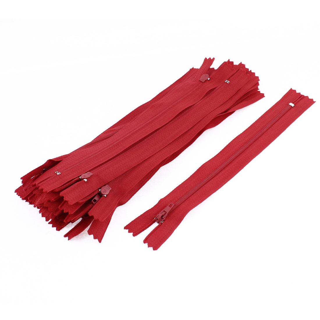 Dress Pants Closed End Nylon Zippers Tailor Sewing Craft Tool Red 18cm 20 Pcs