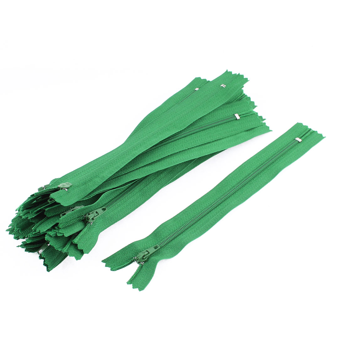 Dress Pants Closed End Nylon Zippers Tailor Sewing Craft Tool Green 18cm 20 Pcs