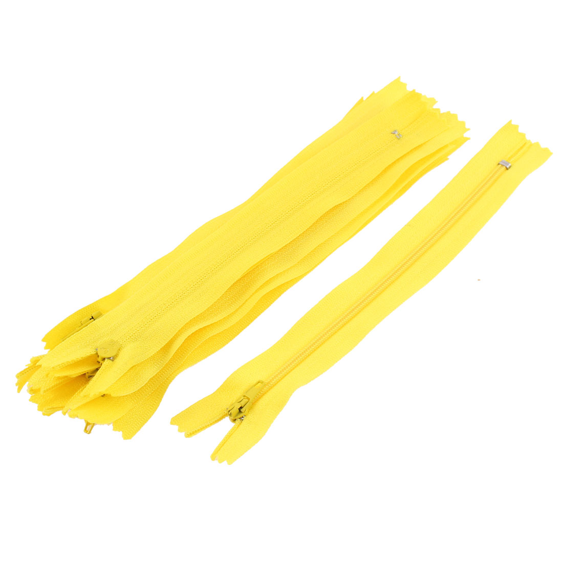 Dress Pants Closed End Nylon Zippers Tailor Sewing Craft Tool Yellow 18cm 10 Pcs