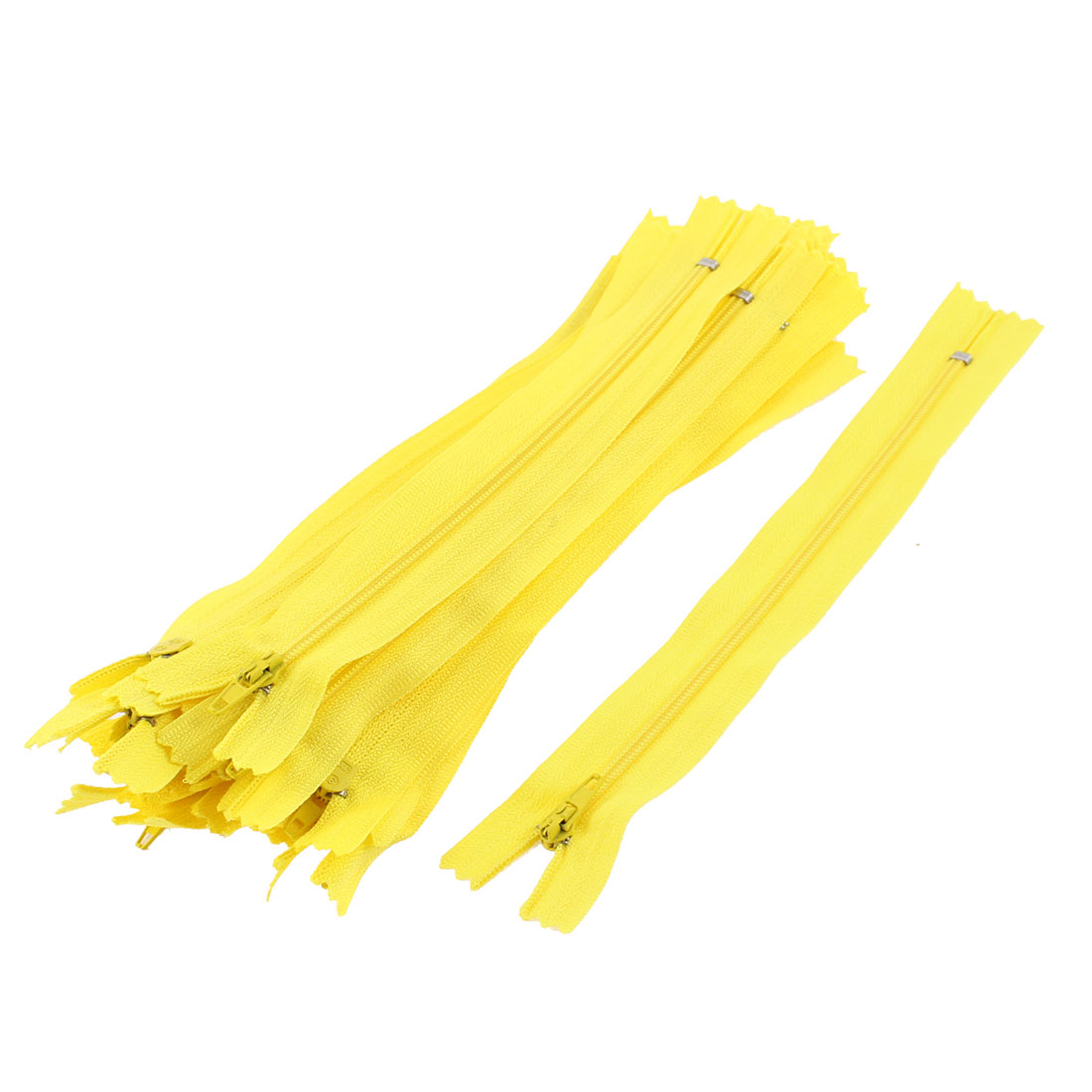 Dress Pants Closed End Nylon Zippers Tailor Sewing Craft Tool Yellow 18cm 20 Pcs