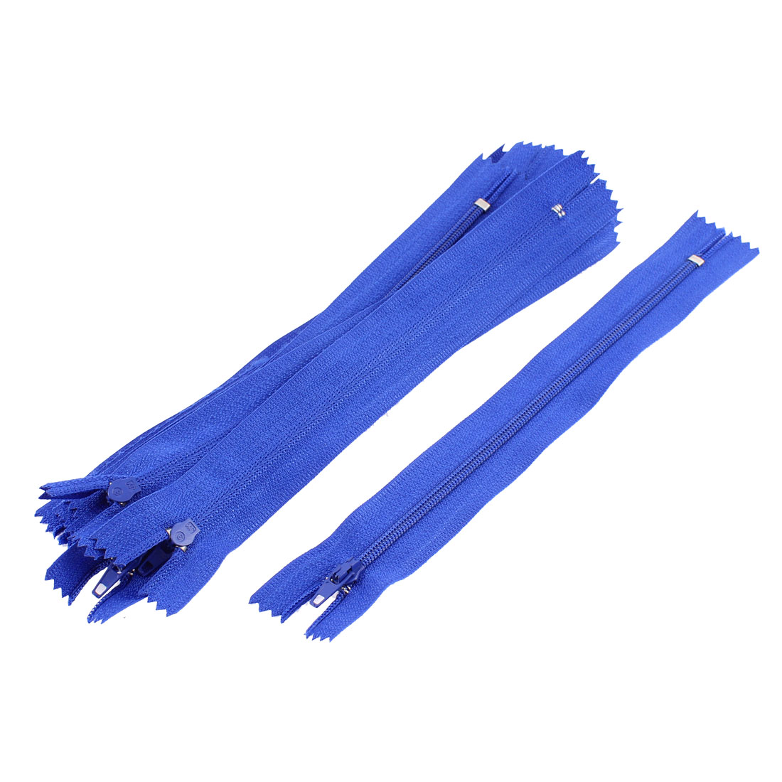 Dress Pants Closed End Nylon Zippers Tailor Sewing Craft Tool Blue 18cm 10 Pcs
