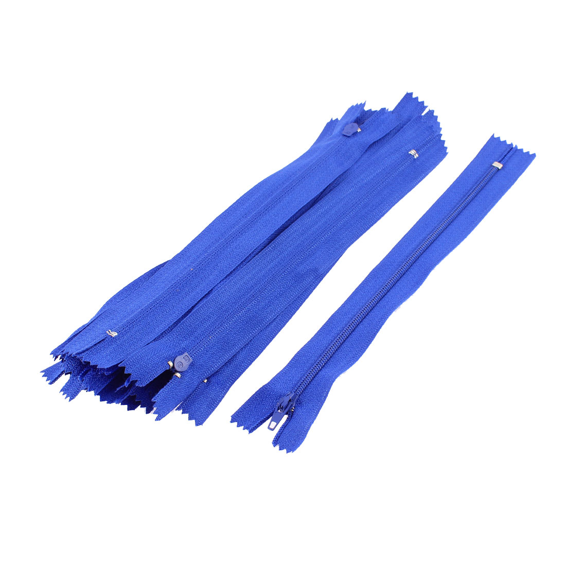 Dress Pants Closed End Nylon Zippers Tailor Sewing Craft Tool Blue 18cm 20 Pcs