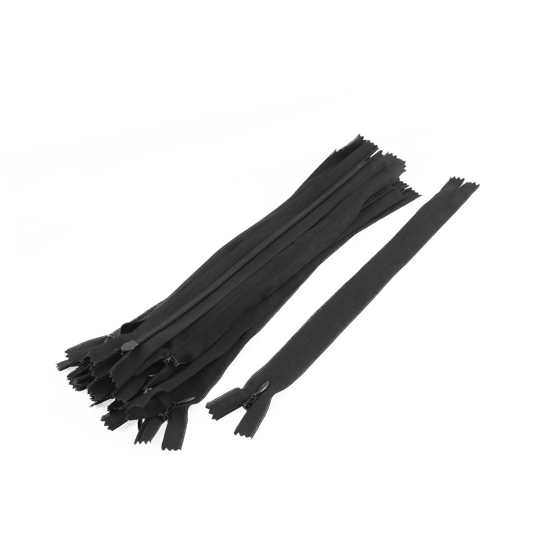 Dress Pants Closed End Nylon Zippers Tailor Sewing Craft Tool Black 25cm 20 Pcs