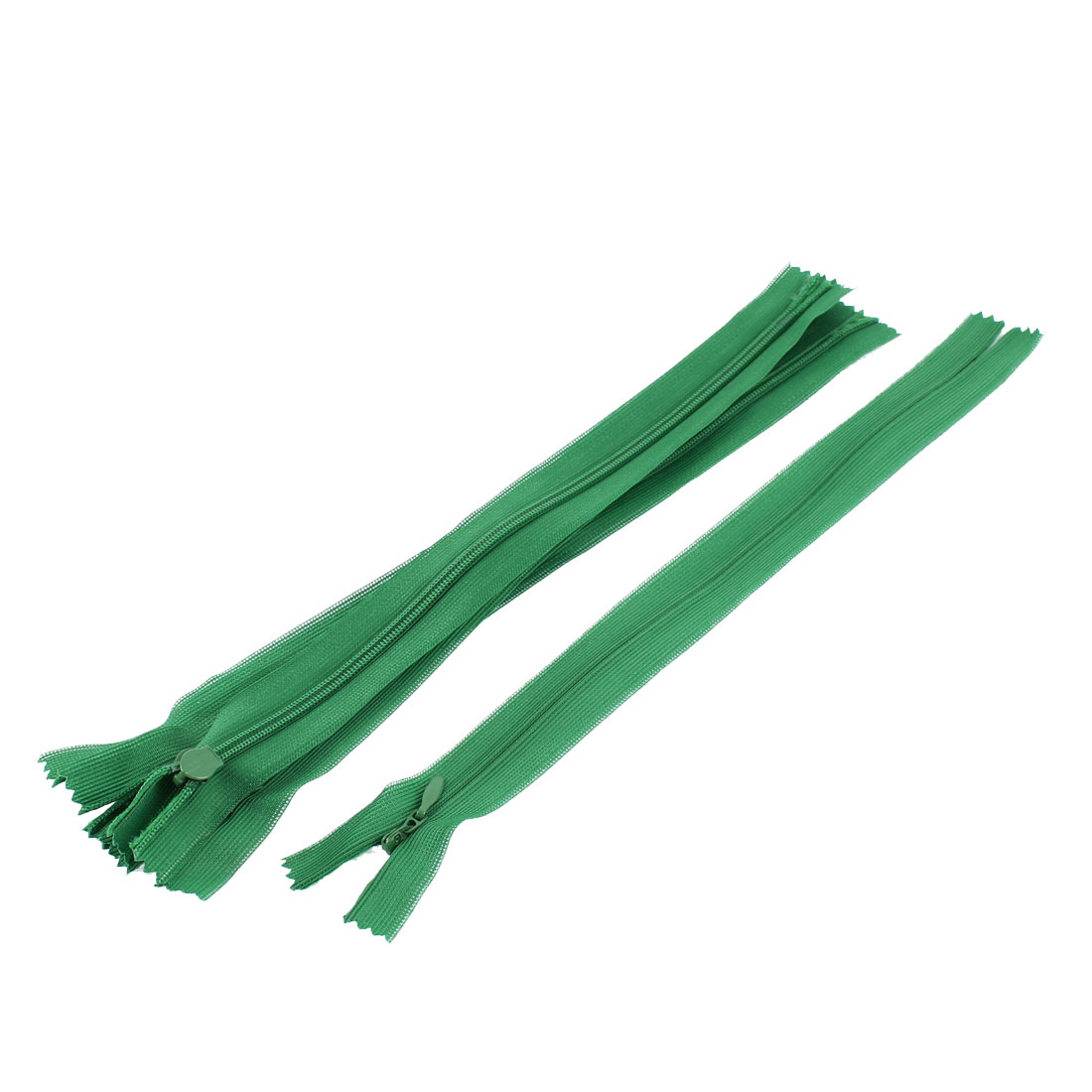 Dress Pants Closed End Nylon Zippers Tailor Sewing Craft Tool Green 25cm 5 Pcs