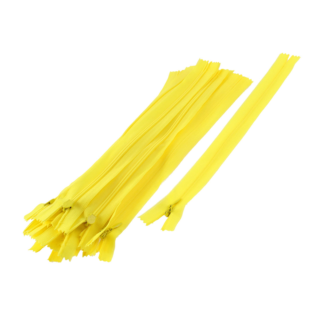 Dress Pants Closed End Nylon Zippers Tailor Sewing Craft Tool Yellow 25cm 20 Pcs