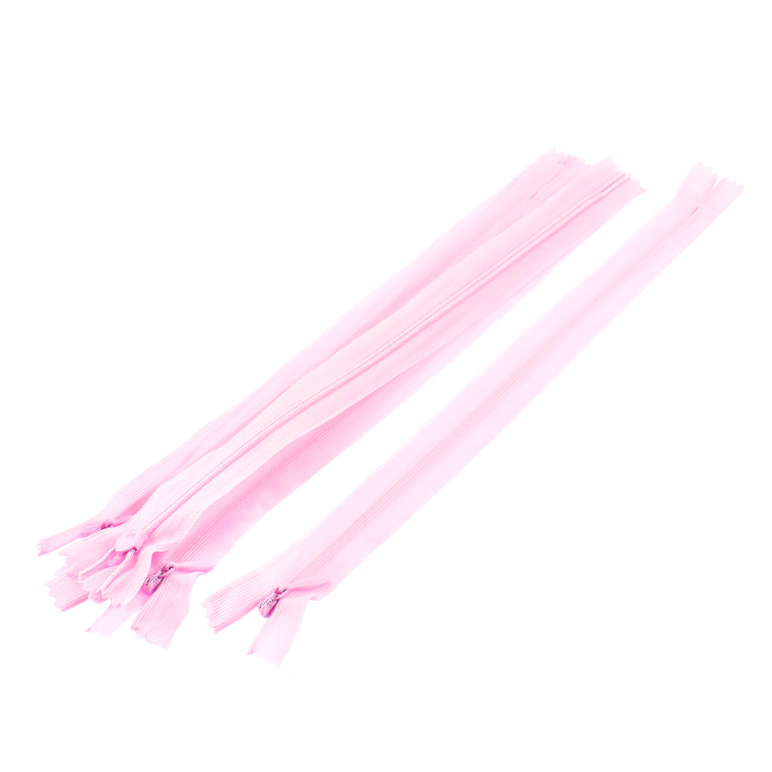 Dress Pants Closed End Nylon Zippers Tailor Sewing Craft Tool Pink 25cm 5 Pcs