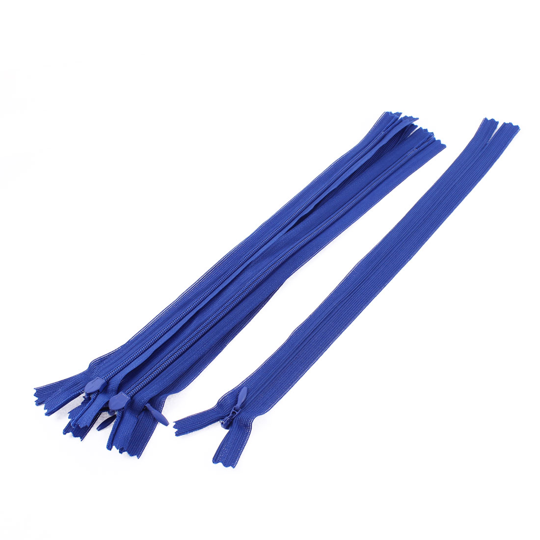 Dress Pants Closed End Nylon Zippers Tailor Sewing Craft Tool Blue 25cm 5 Pcs